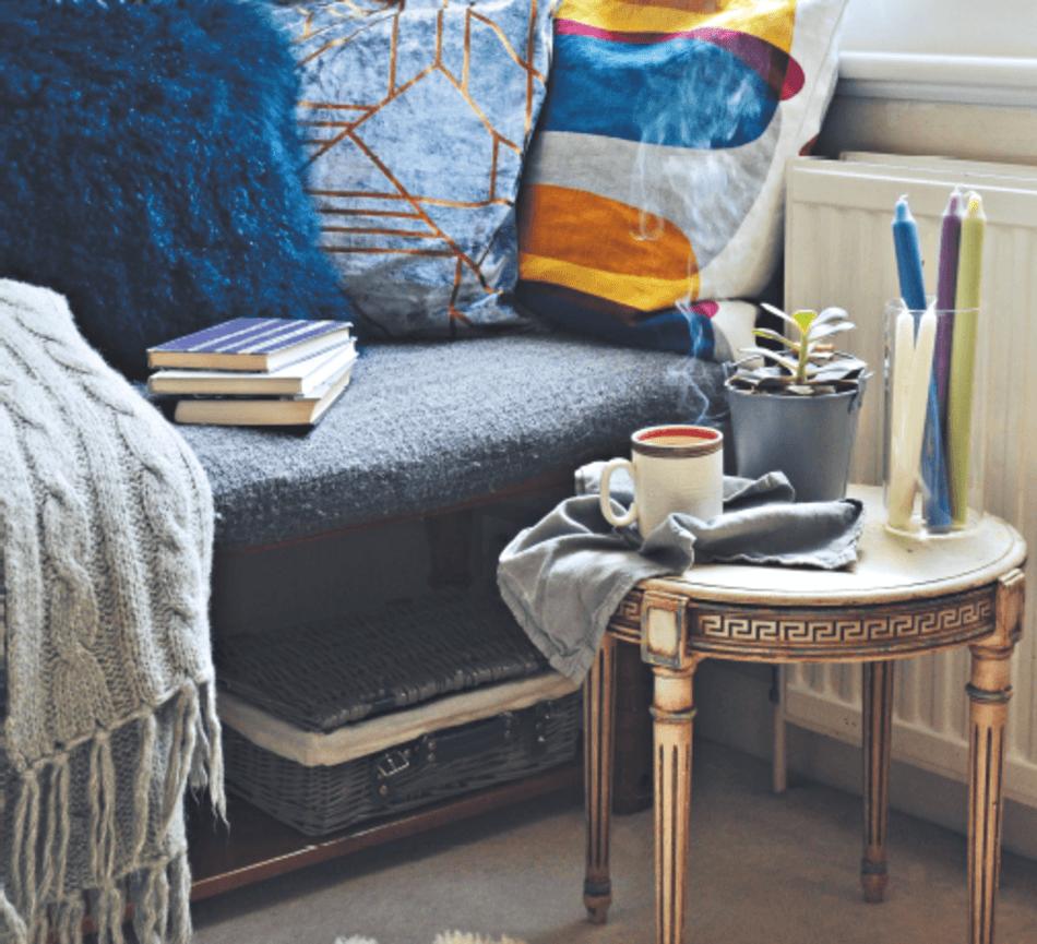 Un salon cocooning pour terminer l'hiver en douceur