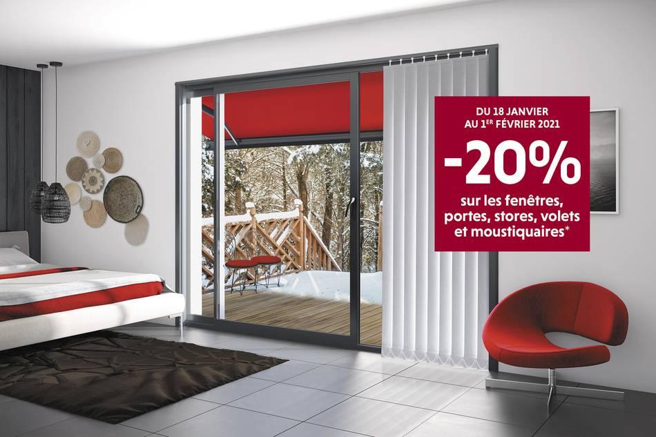 -20% sur les fenêtres, stores, volets et moustiquaires