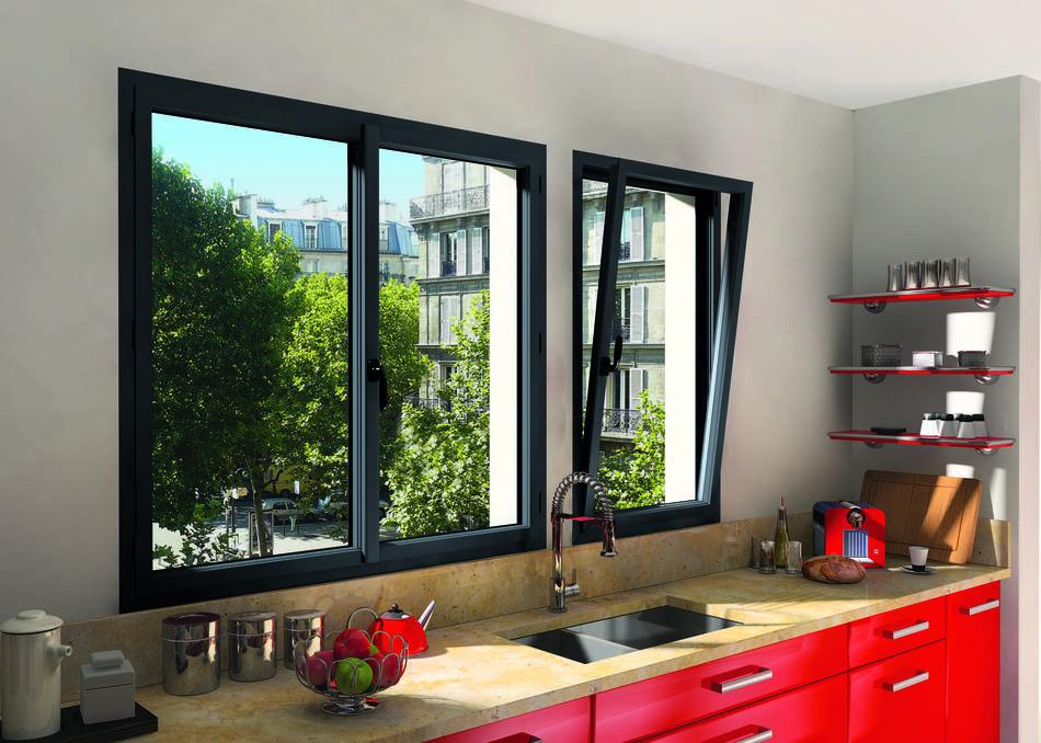 Fenêtre à ouvrant caché aluminium