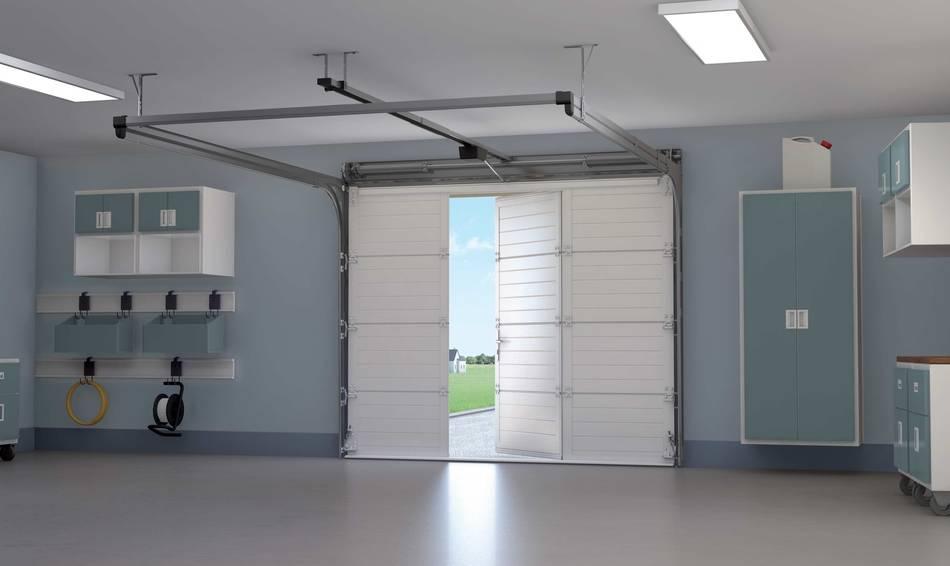 Porte de garage sectionnelle à ouverture latérale