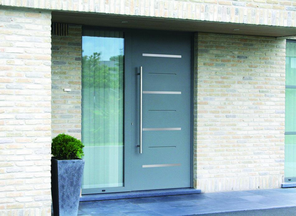 Porte d'entrée en aluminium Sillage Evolution