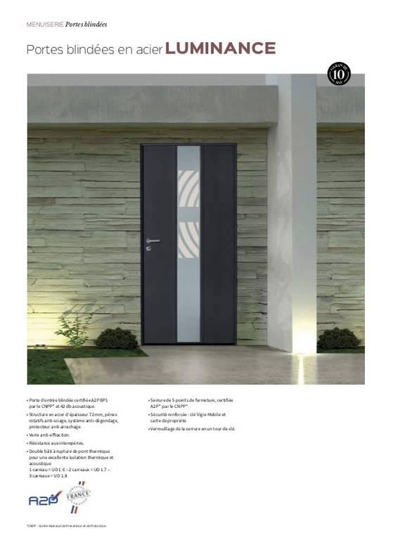 Porte d'entrée en acier Luminance