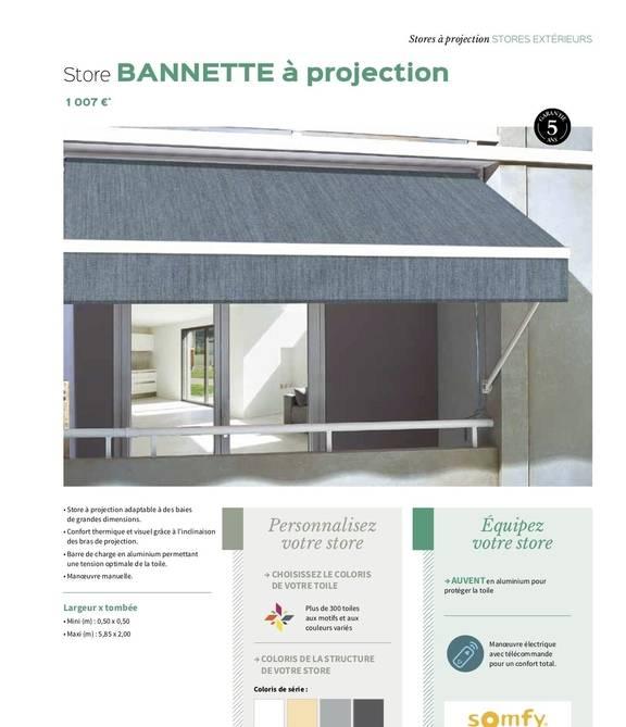 Store Bannette à projection