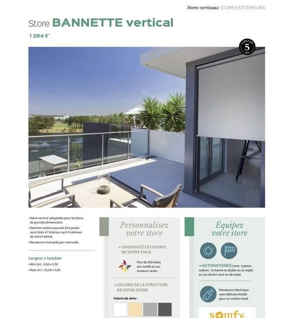 Store bannette vertical