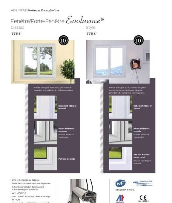 Fenêtre Evoluence Style