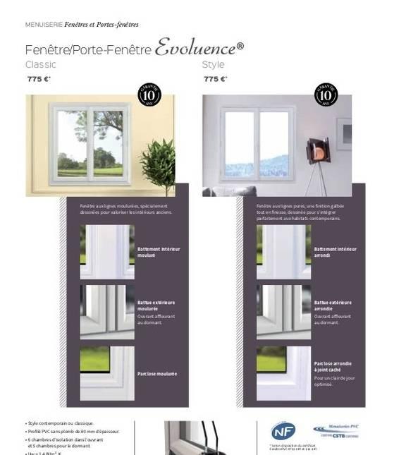 Porte-fenêtre Evoluence Classic