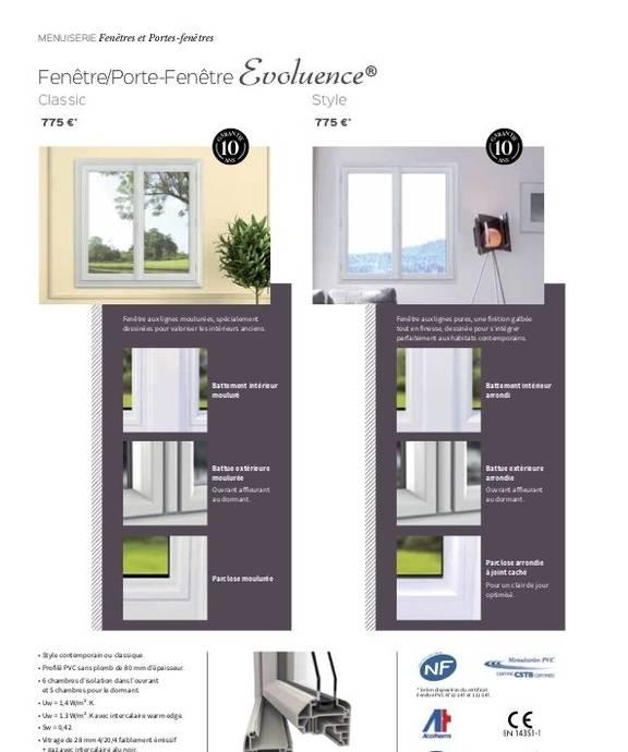 Porte-fenêtre Evoluence Style