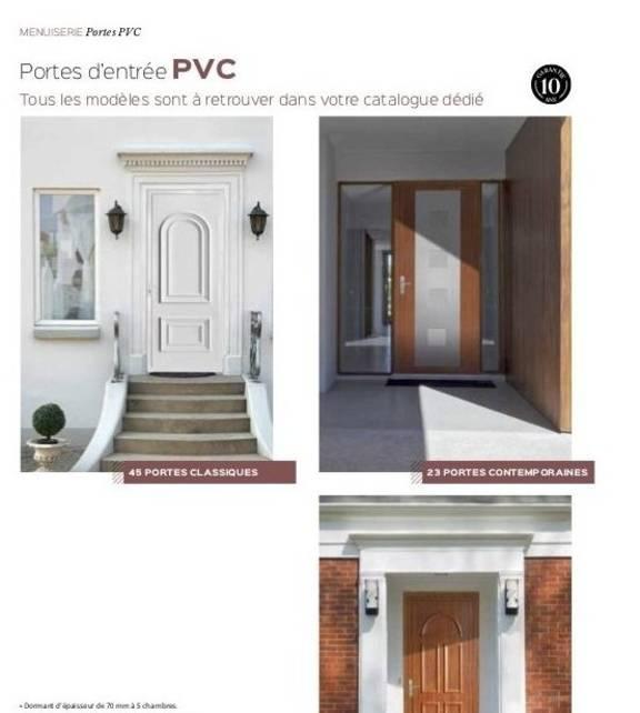 Porte d'entrée en PVC Marguerite