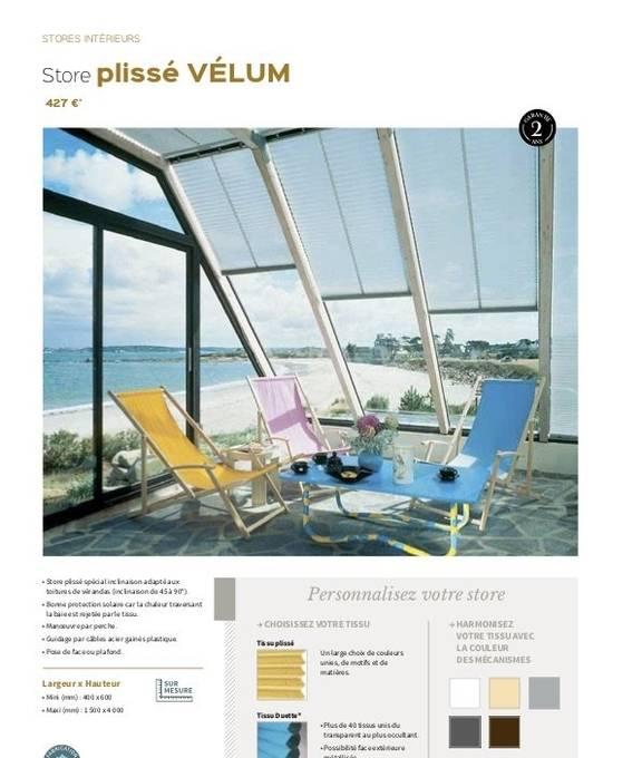 Store plissé Vélum