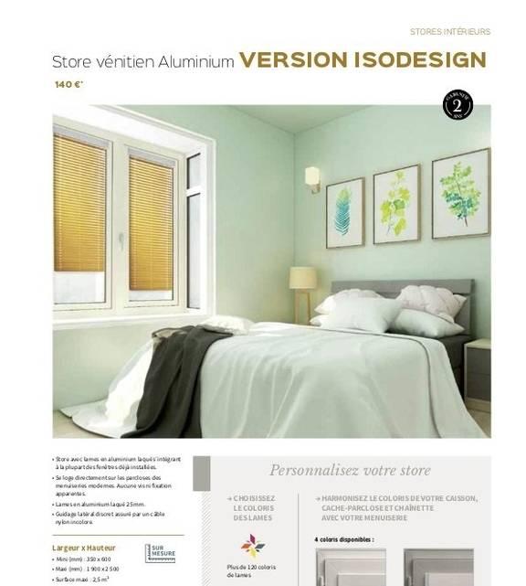 Store vénitien aluminium Isodesign
