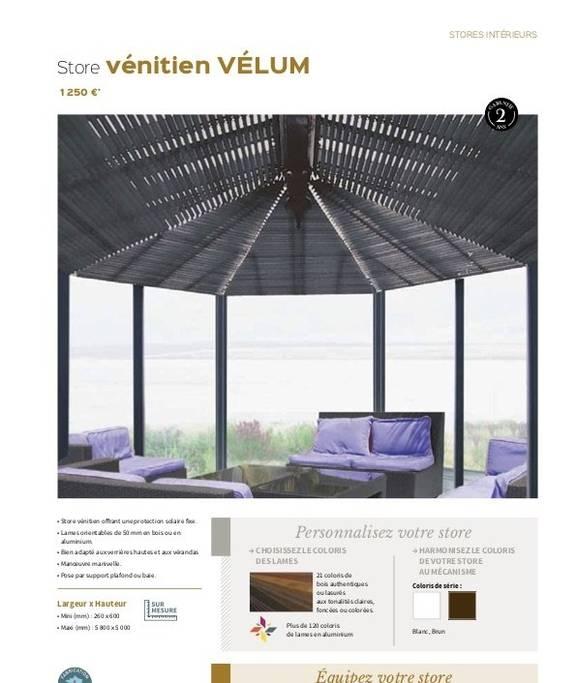 Store vénitien Vélum